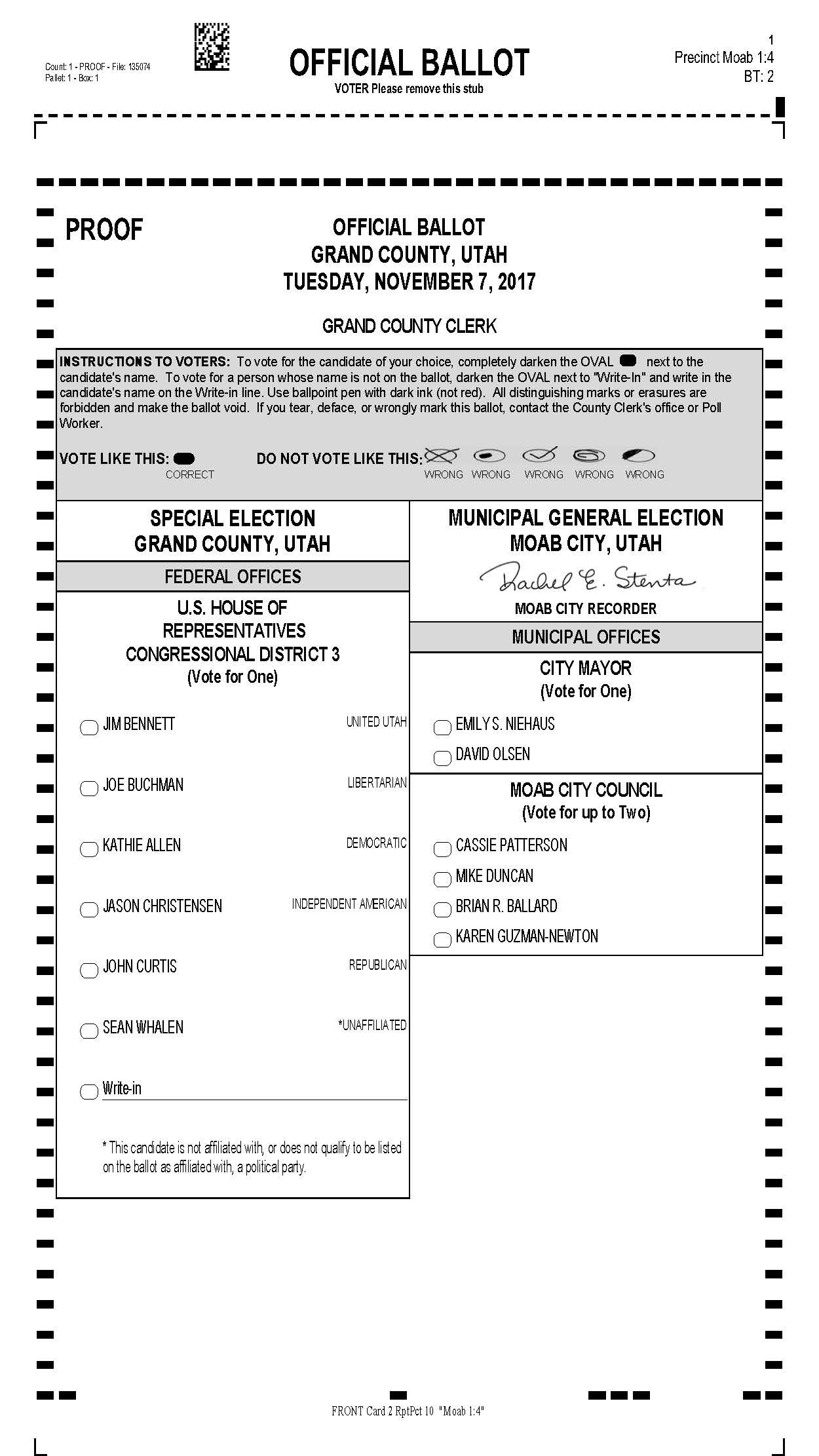 Sample Ballot- 2017 G