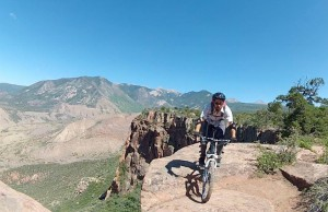 Bike Rider on the Whole Enchilada Trail