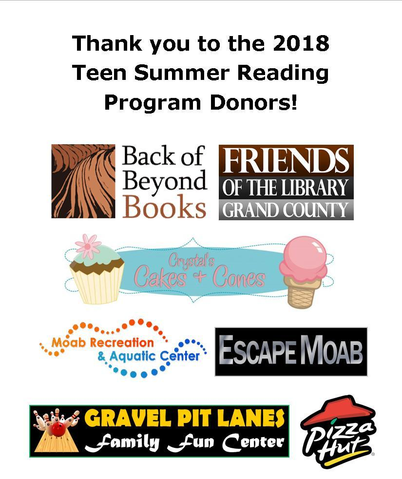 2018 Teen SRP Donors