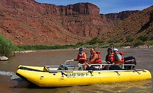 Search and Rescue Yellow Raft on the Mighty Colorado