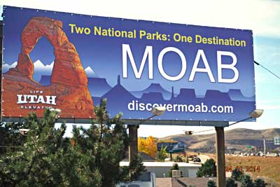 Billboard along I-70 in Denver, Colorado